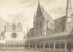 Lincoln Cathedral, cloisters and chapterhouse